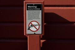 No firearms!