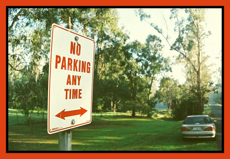 no parking during busy times in the forest