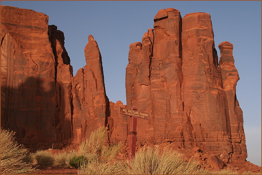 NO PICTURE TAKEN ... im Monument Valley