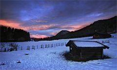 Noch ein bisschen Winter im Voralpenland