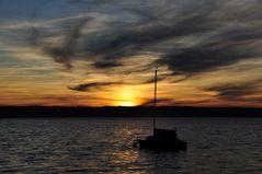 Noch ein Sonnenuntergang am Ammersee