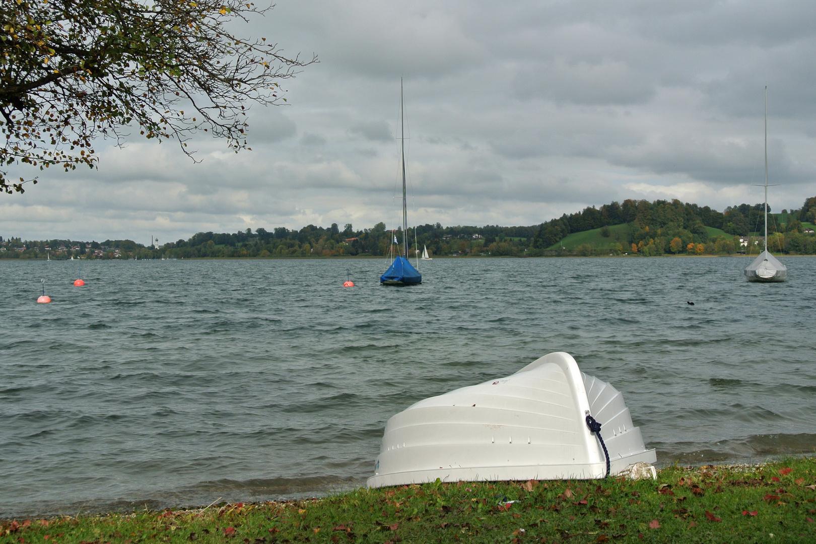 Noch im Wasser ....