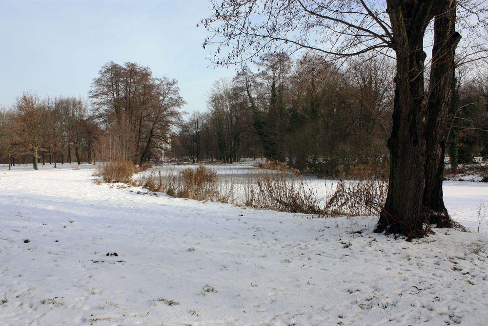 Noch ist es winterlich im Park