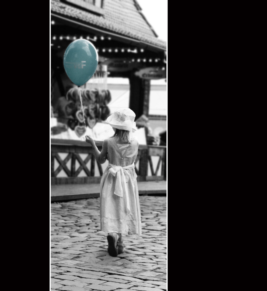 noch mal das kleine Ballonmädchen.....