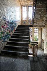Noch schnell Treppe putzen
