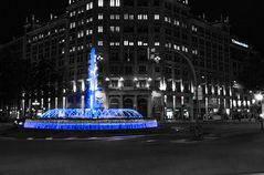 Noche azul en Barcelona