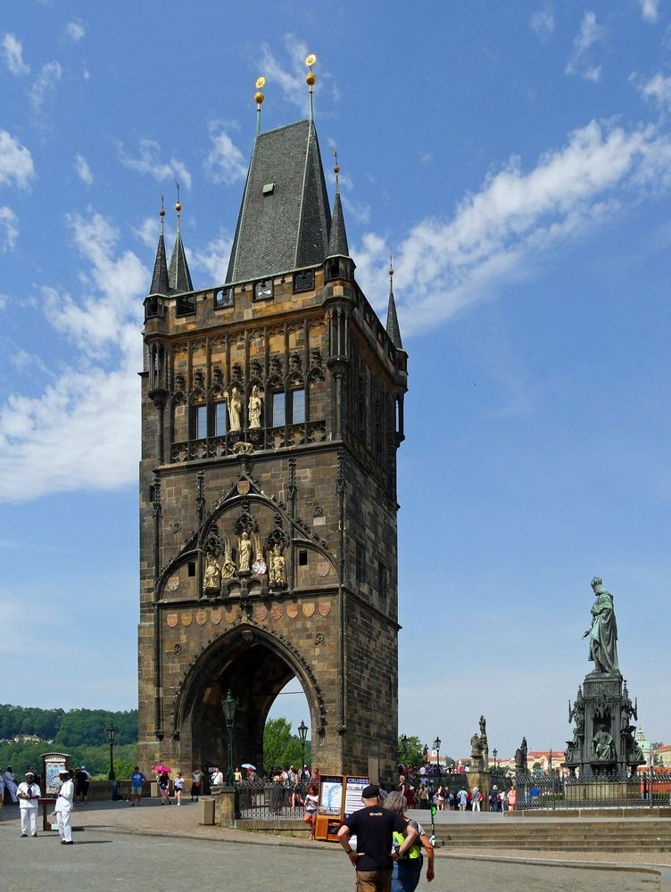 ... nochmal den Turm an der Karlsbrücke -