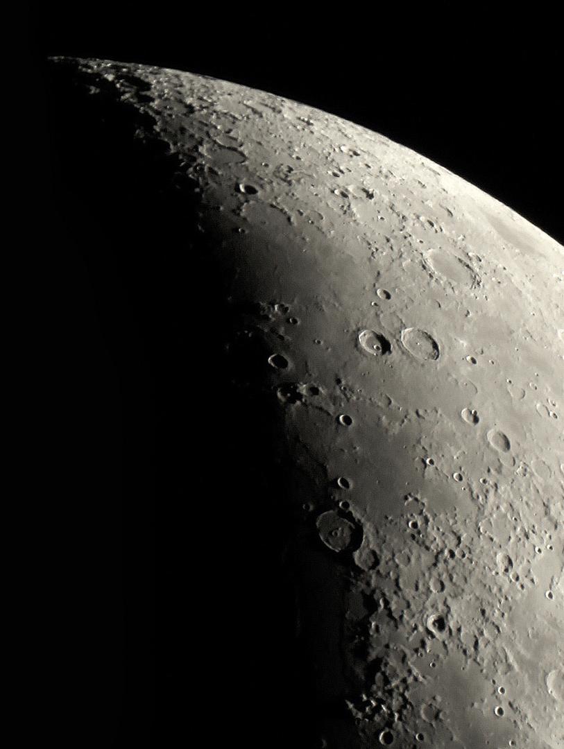 Nördliche Mondregion am 06.03.2014 um 19:47 Uhr