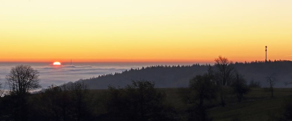 Nollendorfer Höhe Böhmen kurz nach Sonnenaufgang...