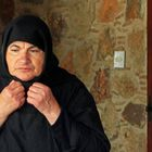 Nonne im Kloster Kloster Agia Thekla, Bezirk Larnaca, Zyper