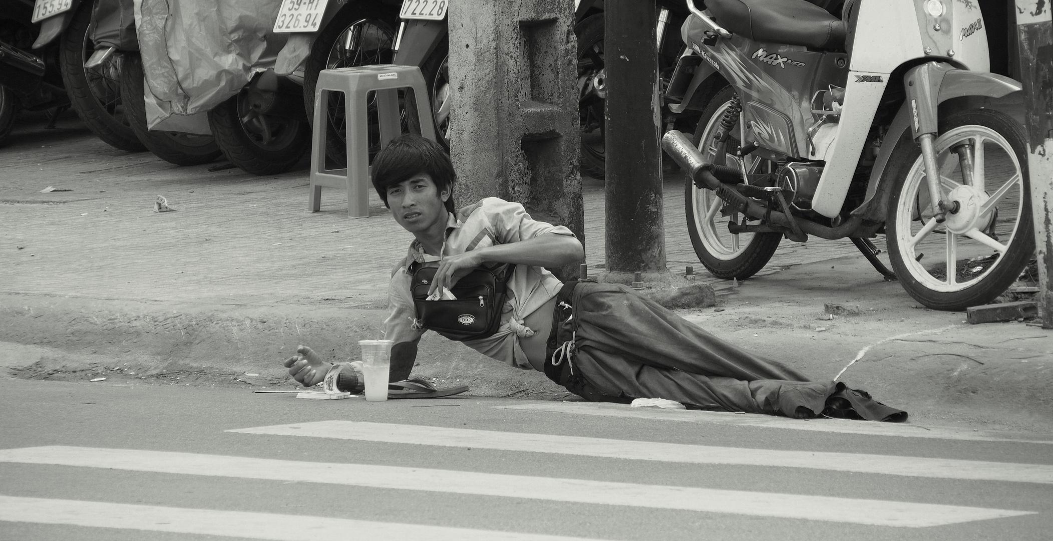 Noon. Hot Saigon.