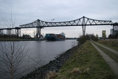 Nord-Ostsee-Kanal, Hochbrücke bei Rendsburg