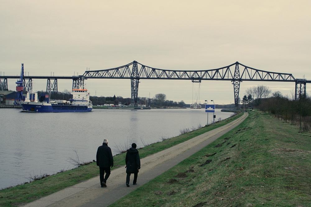 Nord-Ostsee-Kanal, Hochbrücke bei Rendsburg, Schwebefähre