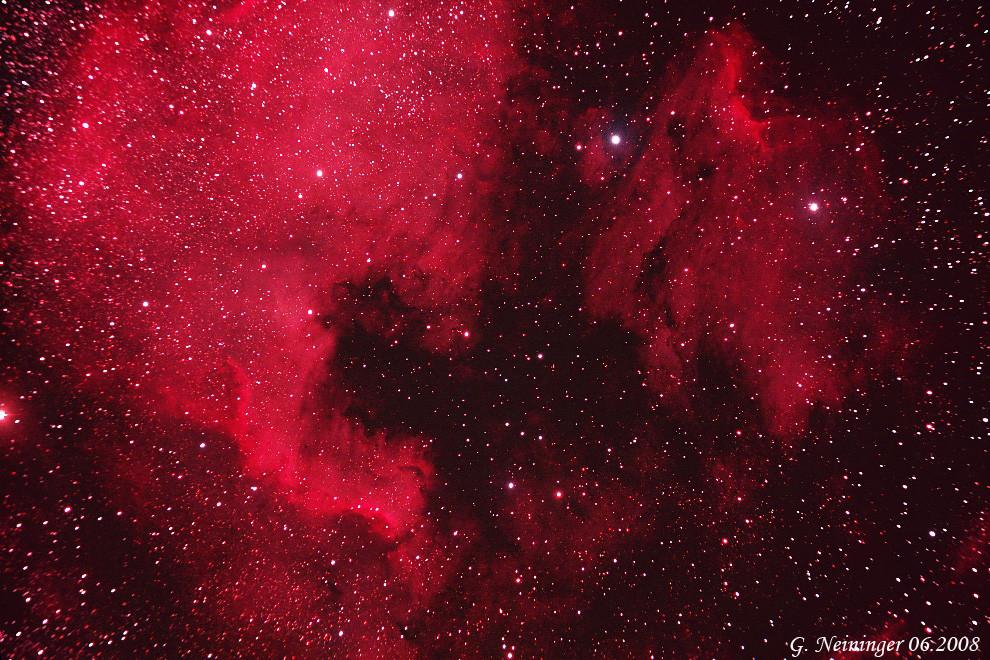 Nordamerikanebel NGC 7000 und der Pelikannebel IC 5070