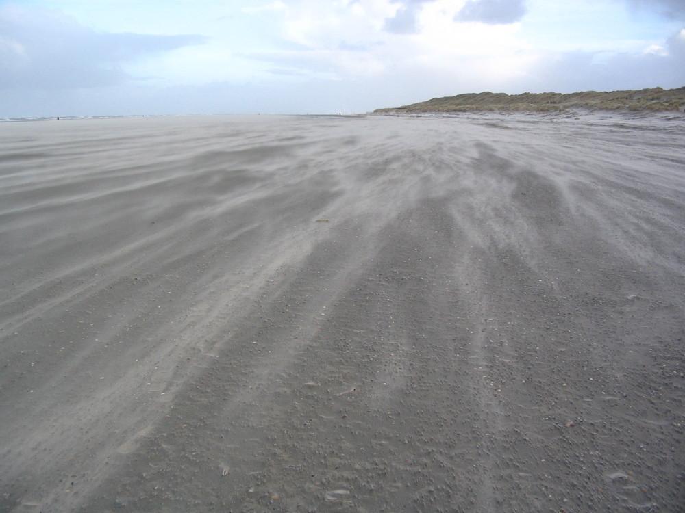 """Norderney   """"Sandsturm in den Dünen auf Norderney  """" !"""