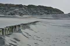 Norderney - Strand bei leichten Sandtreiben