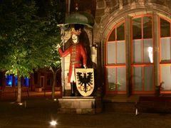 Nordhäuser Roland bei Nacht