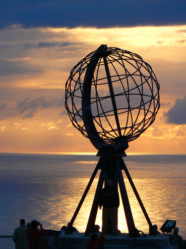 Nordkap - Weltkugel