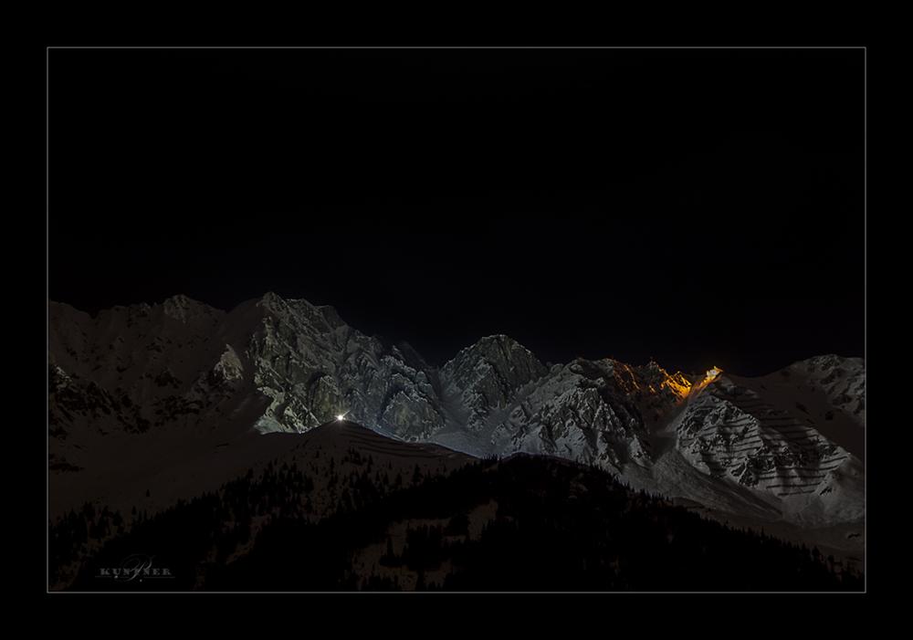 Nordkette bei Nacht