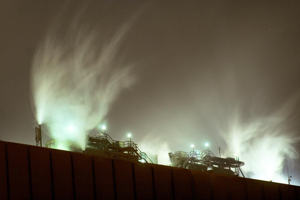 Nordlicht über dem OX 2 in DU-Bruckhausen