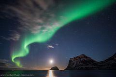 Nordlicht über Haukland