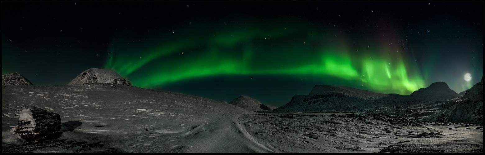 Nordlichts alleinsamer Schein