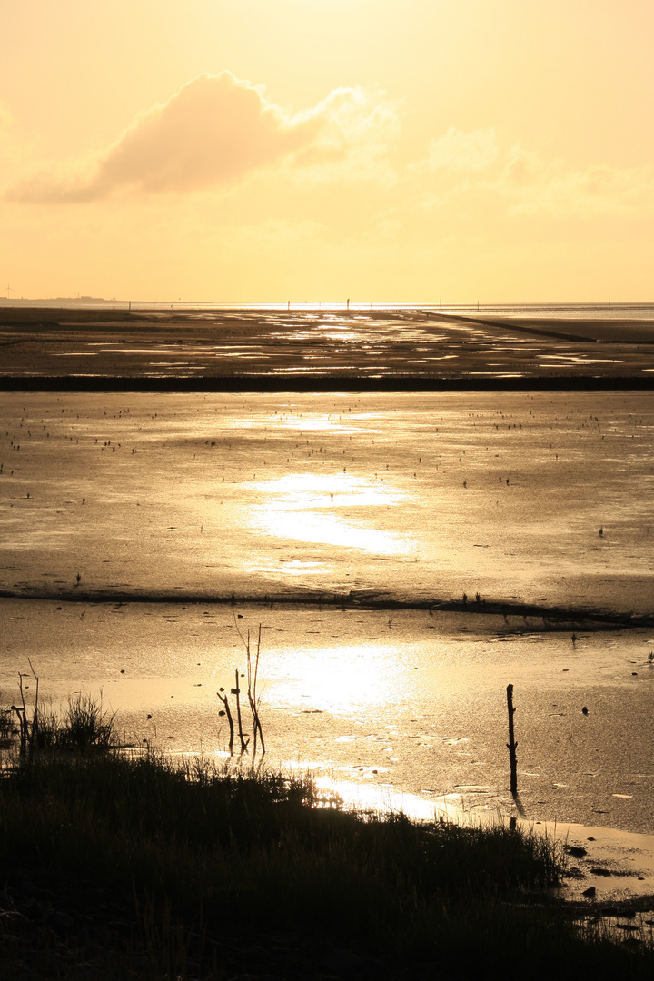 Nordsee 2012 - Bensersiel am Abend