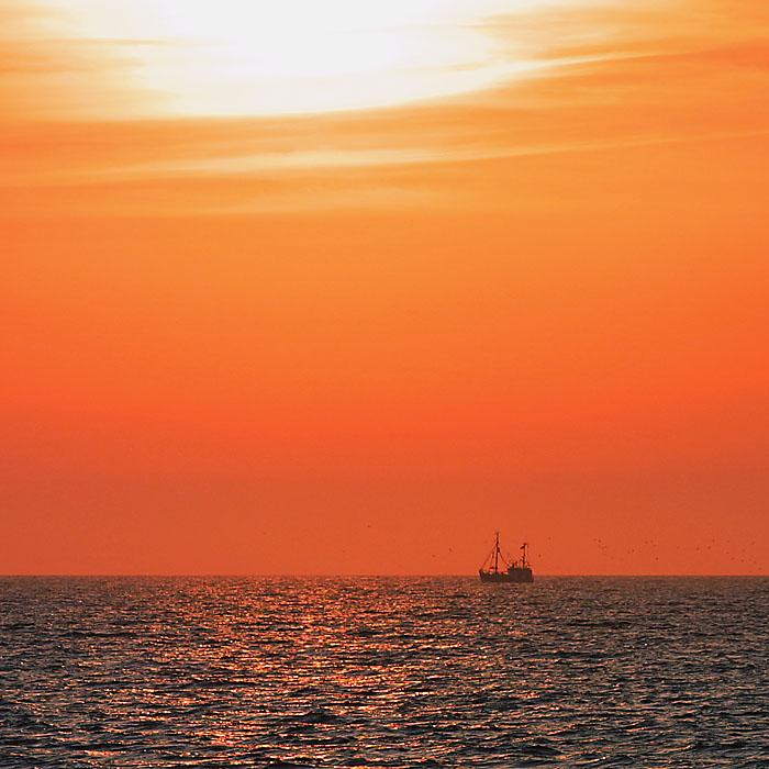 Nordsee-Abendstimmung genossen in Rantum