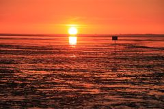 Nordsee in Rot
