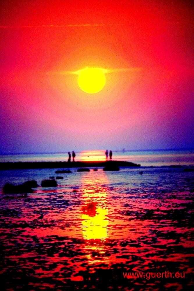 Nordsee und Sonne
