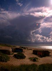 Nordsee - Wettererscheinung im Abendlicht