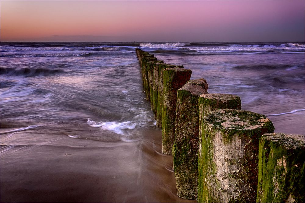 Nordseeblick nach Sonnenuntergang