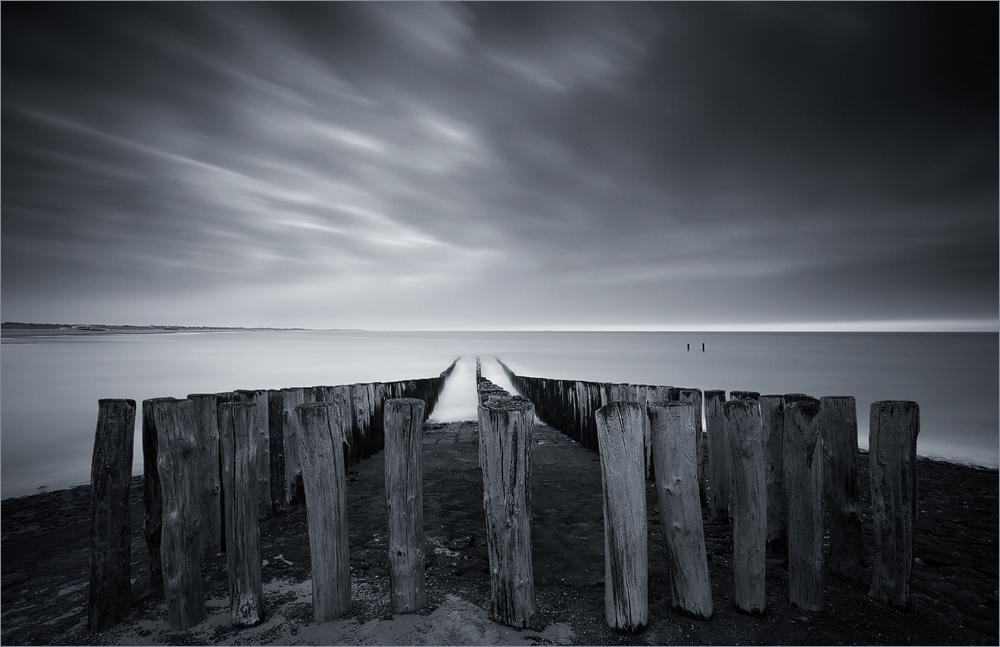 Nordseeimpressionen in Grau