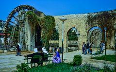 Norias in Hama, Syrien.           .120_4011