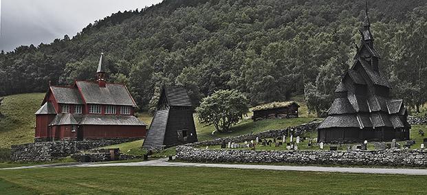 NORVEGIA. LE DUE CHIESE DI BORGUND