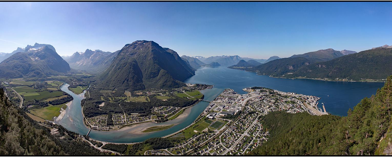 Norway   panoramic fjord view  