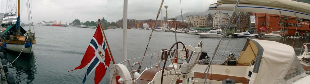 """Norwegen 29 """" PANORAMA VON BERGEN-HAFENANSICHT """""""