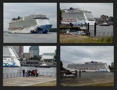 Norwegian Escape. Das grösste Passagierschiff,dass jemals ........