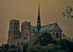 Notre Dame in der Dämmerung.            -ö120_2596