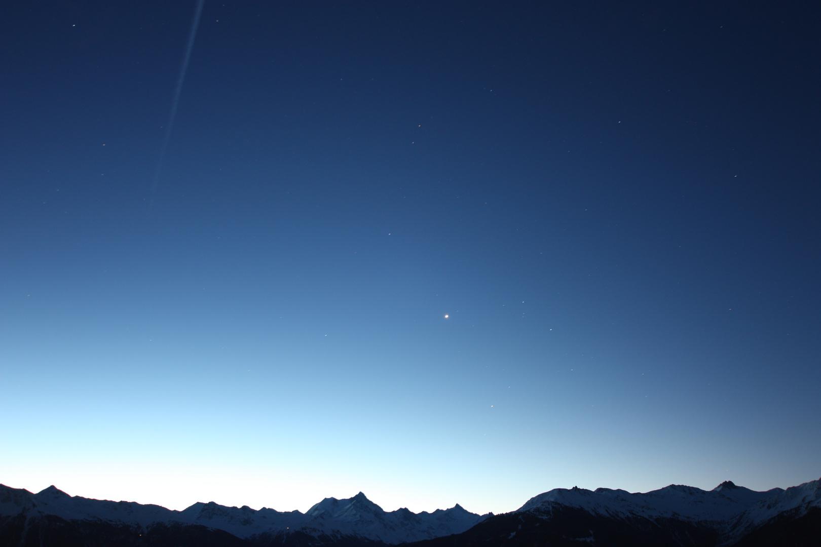 Notte stellata a Crans Montana