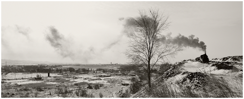 Novemberdampf in Nordchina - Auf dem Abraumberg I