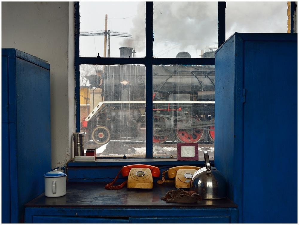 Novemberdampf in Nordchina - Fushun Steelworks I