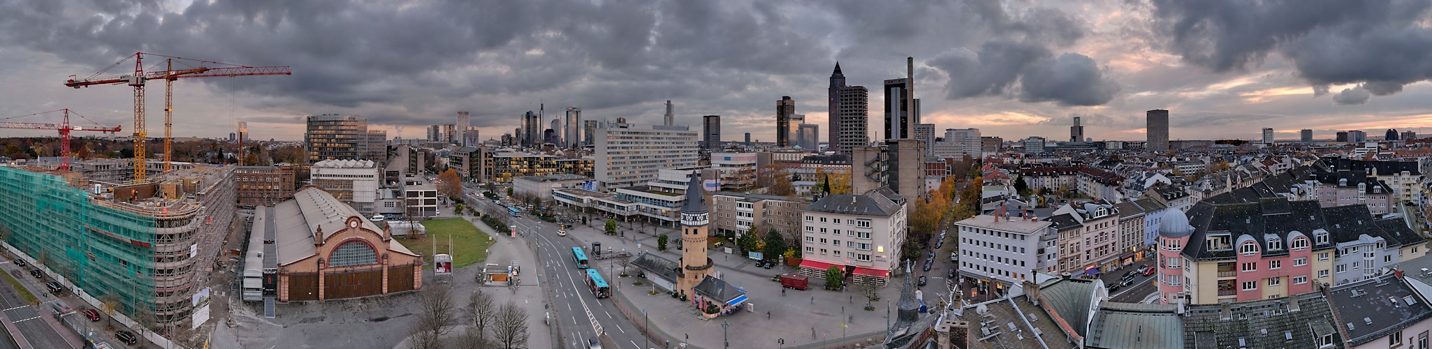Novembergrau über Frankfurt