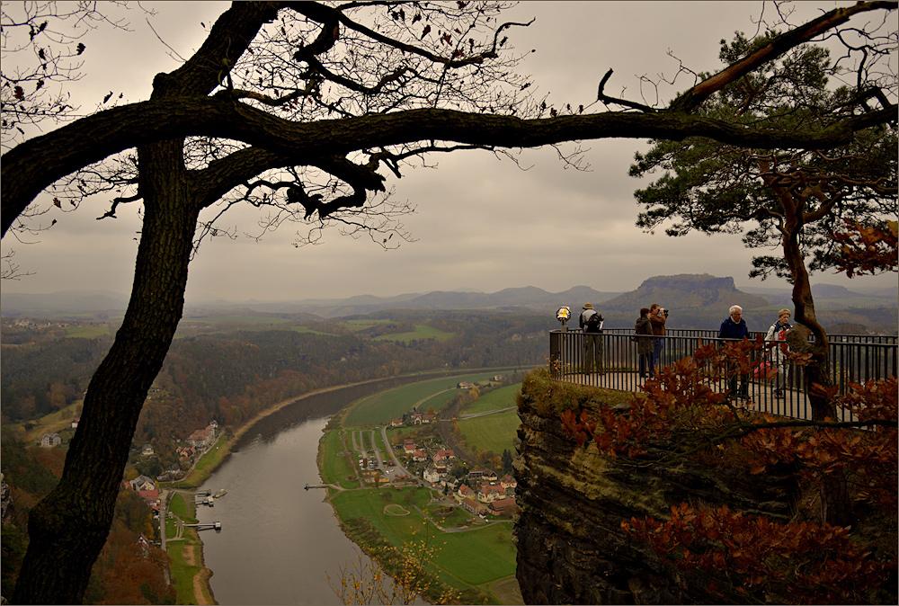 Novemberwetter auf der Bastei ...
