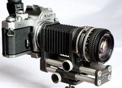Novoflex-Balgen an Nikon FM3A