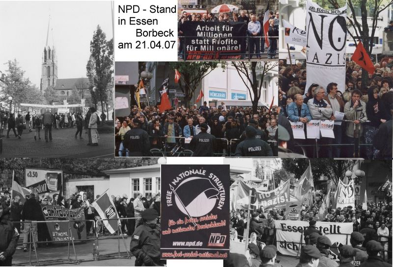 NPD - Stand in Essen - Borbeck am 21.4.07