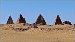 Nubische Pyramiden bei Karima................