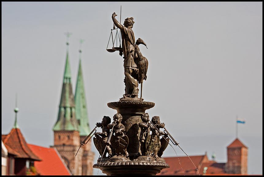 Nürnberg Tugendbrunnen