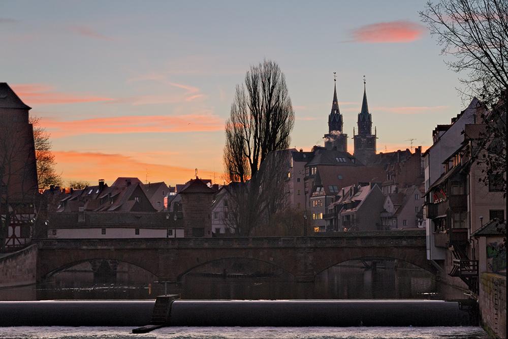 Nürnberger Altstadt vom Kettensteg