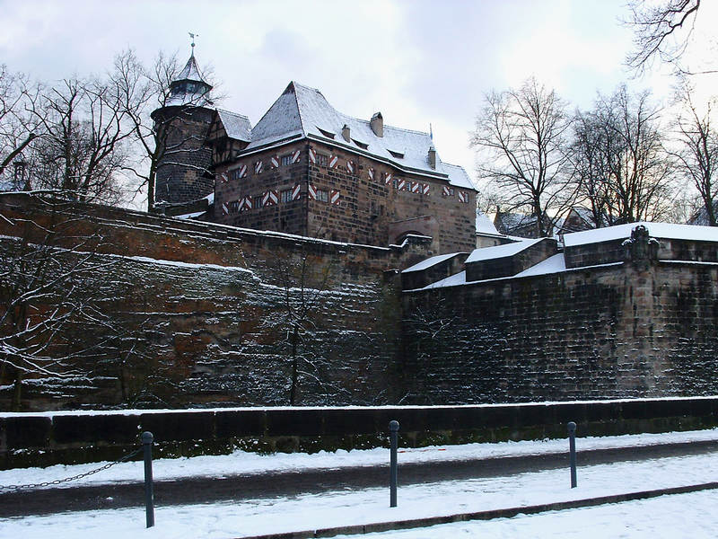 Nürnberger Burg Nordansicht